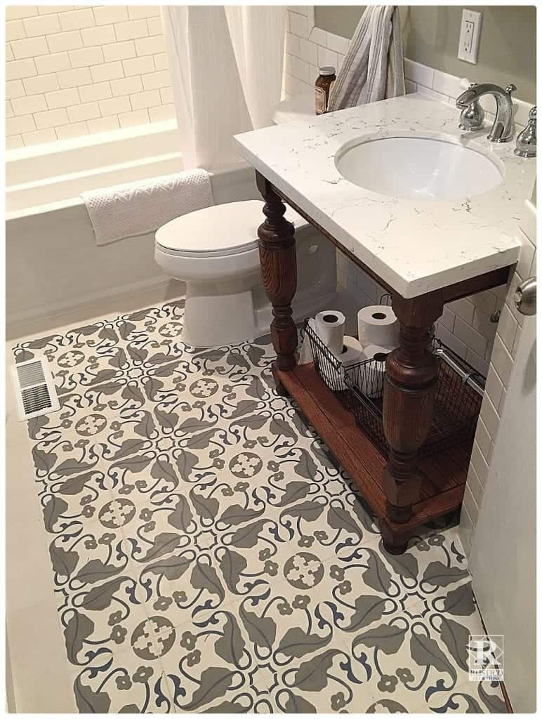 Cement Tile Bathroom Floors - Rustico Tile and Stone