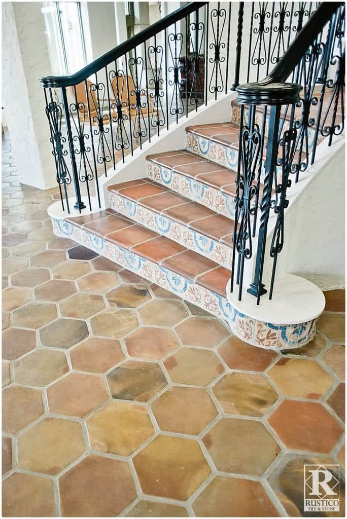 mexican tile floor and decor