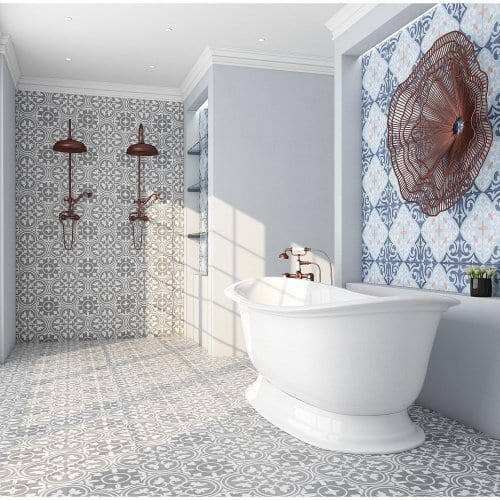 bathroom cement tile